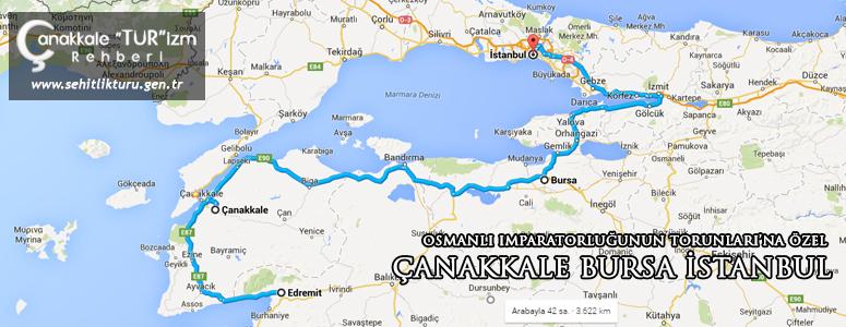 canakkale bursa istanbul